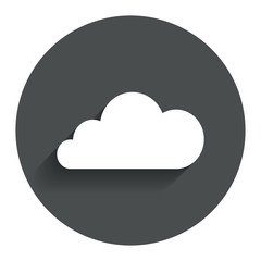Cloud sign icon. Data storage symbol.