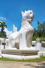 lion statue temple in Chiang Mai province, Northern Thailand