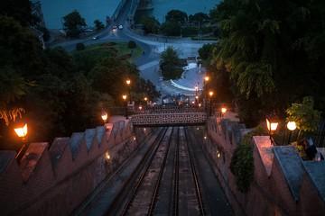 Nigt Budapest funicular