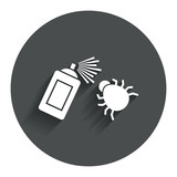 Bug disinfection sign icon. Fumigation symbol. poster
