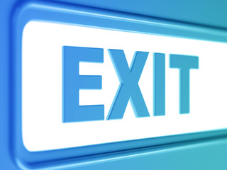 exit internet blue icon