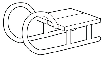 Cartoon equipment for leisure activity - coloring page