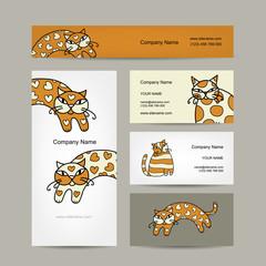 Art cats. Business cards design
