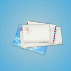 Envelopes and card