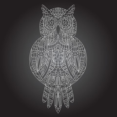 Beautiful ornamental owl graphic