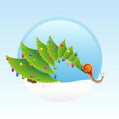 Christmas snail