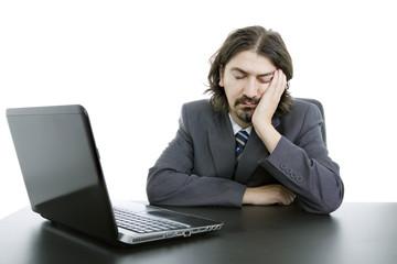 sleeping on laptop