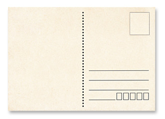 Blank post card isolated