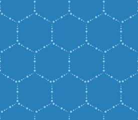 Hi-tech hexagons pattern