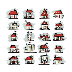 Set of houses, sketch for your design