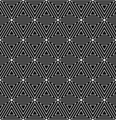 Hexagons and triangles texture. Seamless geometric pattern.