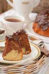 Marble Cake White and Dark Chocolate