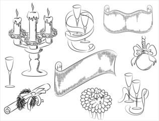 Набор рисунков новогодних