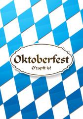 Oktoberfest Hintergrund mit bayerischer Flagge