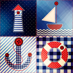 Patchwork in nautical style.