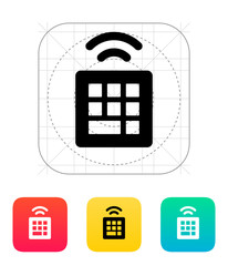 Wireless small keyboard icon.