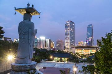 Seoul night view from Bongeunsa Temple (奉恩寺夜景)