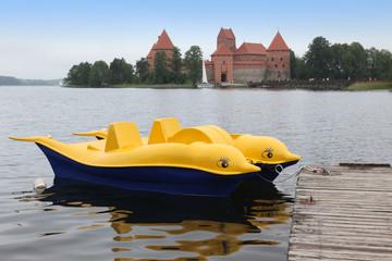 Boat at Trakai Island Castle, Lithuania