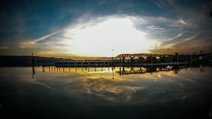 Sonnenuntergang am Bodensee (Radolfzell) - Timelapse