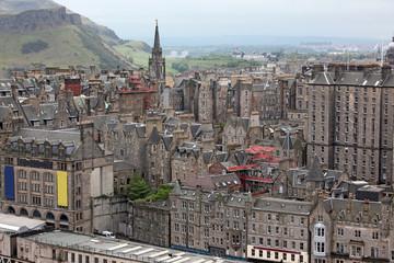 Aeriaal view Edinburgh, Scotland, UK