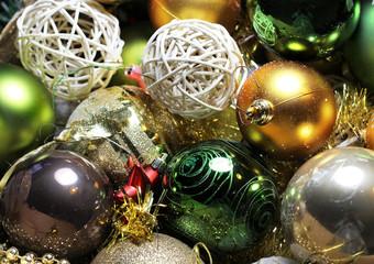 Mix of beautiful Christmas decoration