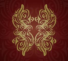 Abstract golden shape. Illustration 10 version