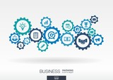 Business mechanism concept poster
