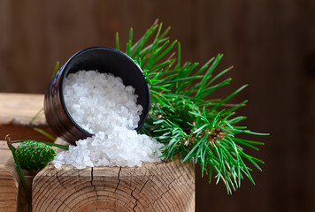 Sea salt with coniferous aroma
