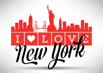 I Love New York Skyline Design