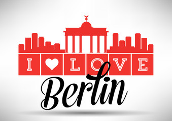 I Love Berlin Skyline Design
