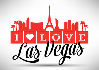 I Love Las Vegas Skyline Design