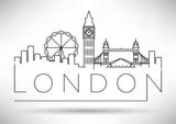 Fototapety City of London Minimal Skyline Design