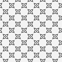 Black and White Flower Repeat Pattern Background