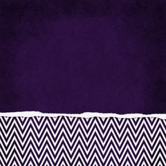 Square Purple and White Zigzag Chevron Torn Grunge Textured Back