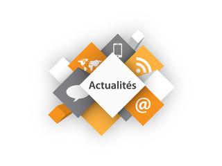 Cubes ACTUALITES (informations infos rss en ligne bouton)