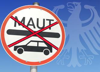 Schild Gegen PKW-Maut