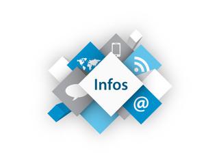 Cube INFOS (informations actualités rss en ligne bouton)
