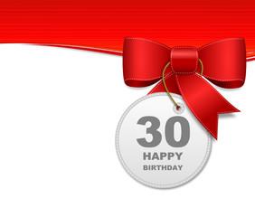 Schleife 30. Geburtstag