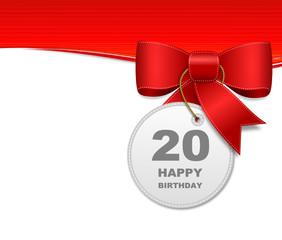 Schleife 20. Geburtstag