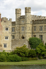 towers at Leeds castle, Maidstone, England