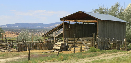 grange en ruine de l'Utah