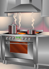 Catering Kitchen Stove