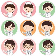 看護師 医者 薬剤師 アイコン