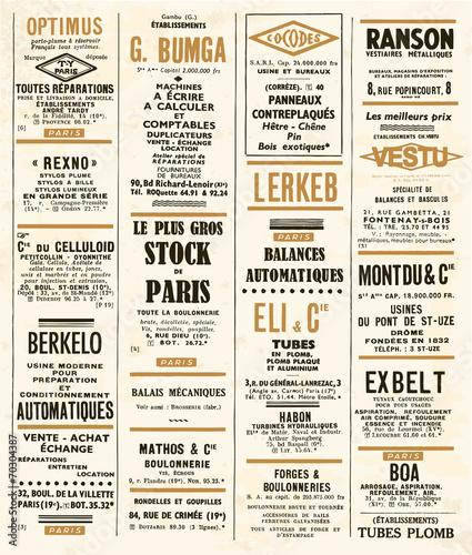 annonces vintage © lynea