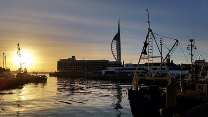 Sun Setting on Old Portsmouth Harbour 2