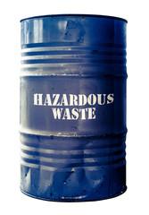 Isolated Barrel Of Hazardous Waste