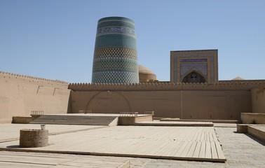 Great minaret in ancient city of Khiva