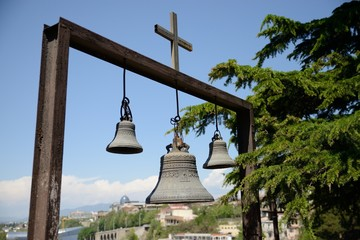 Church bells outside the church