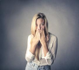 Afraid woman