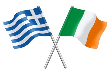 Flags: Greece and Ireland
